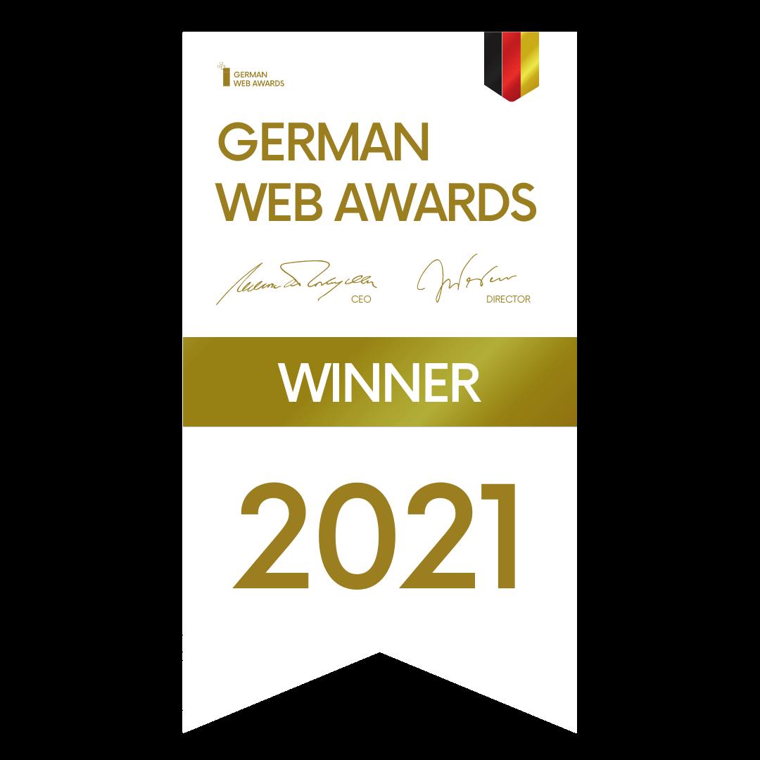 Auszeichnung German Web Awards